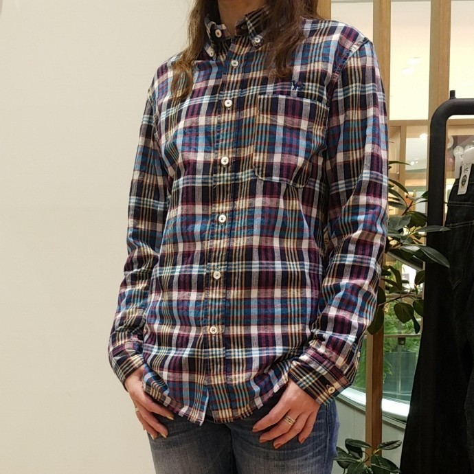HRM☆JOURNEYエンブロイダリー マドラスチェックシャツ