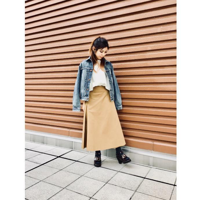 【  チノラップスカート   】