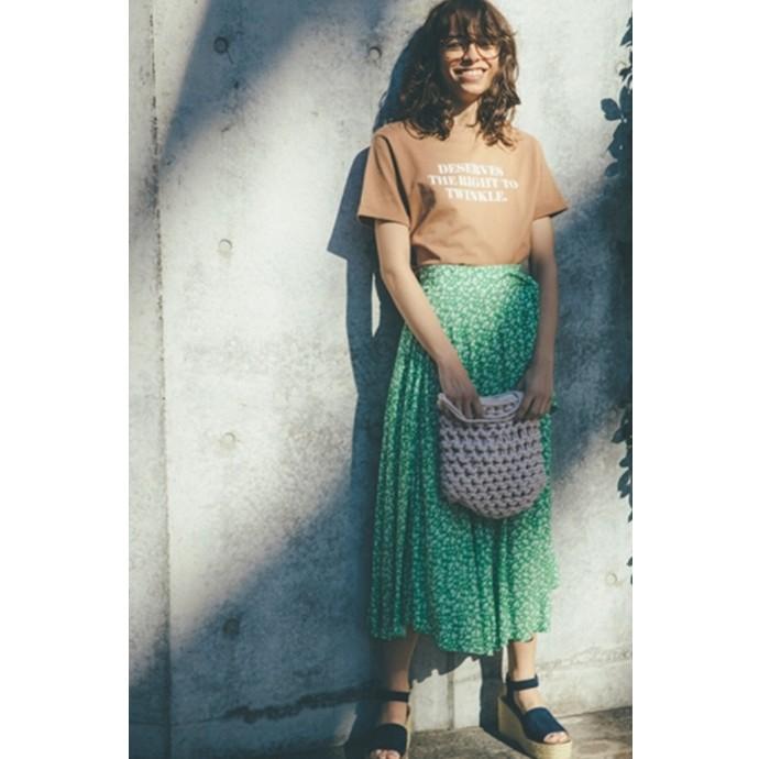 ランダムヘムが美しい巻きスカートのご紹介です♪