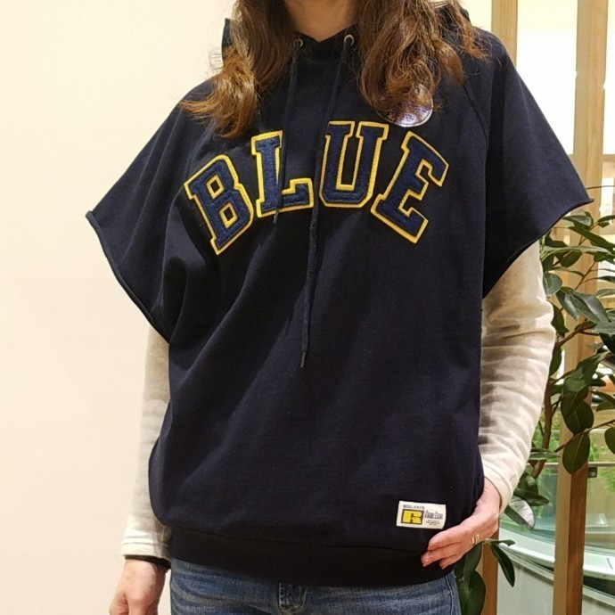 RUSSELL・BLUE BLUE☆プルパーカベスト ウィメンズ
