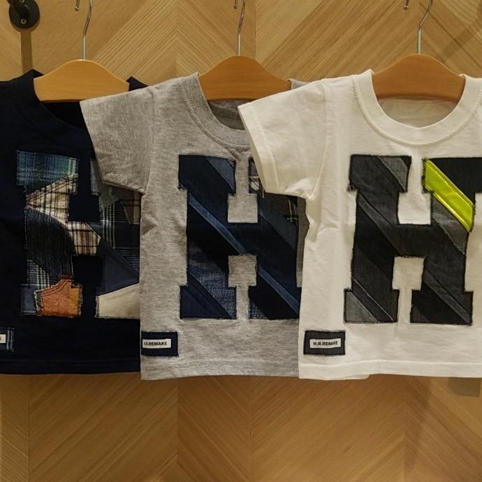 HRR☆ミックスパッチワーク HパッチTシャツ キッズ