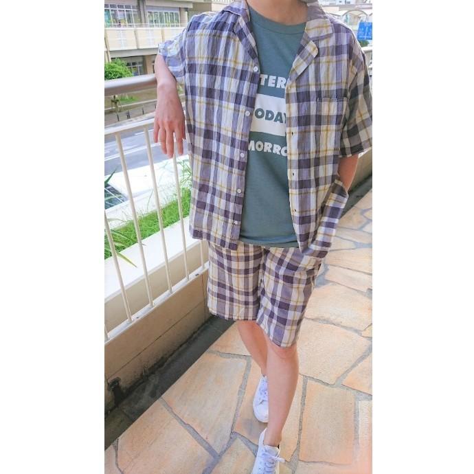 【HOMME】チェックシャツ&ステテコ