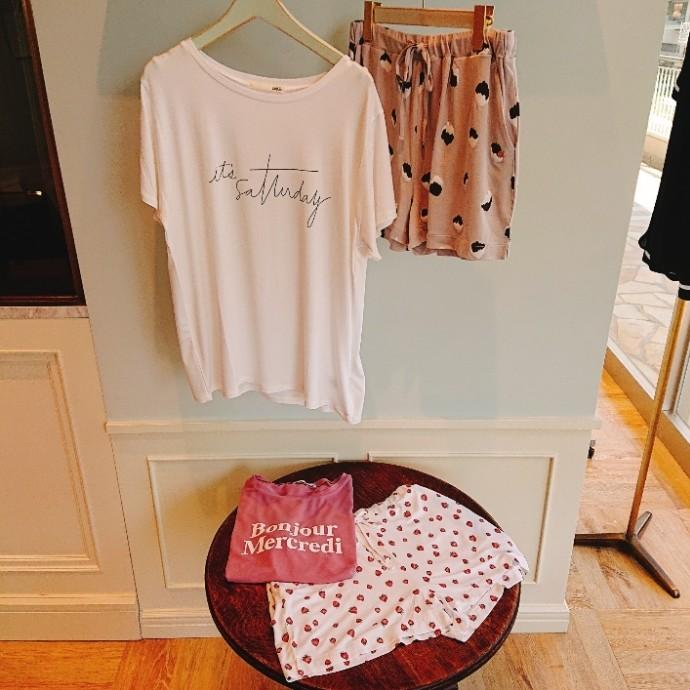レーヨンロゴTシャツ&パンツ