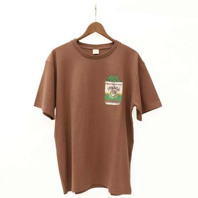 POPEYE(R)&OLIVE OYL(R) コラボ ポケット付きTシャツ