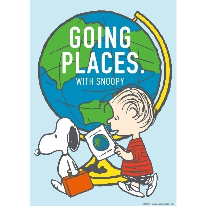 GOING PLACES. WITH SNOOPY