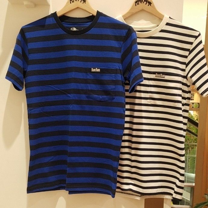 FRUIT OF THE LOOM・BLUE BLUE☆ボーダーポケット2P Tシャツ