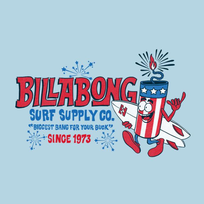 BILLABONG メンズ FIRECRACKER バックプリントTシャツ