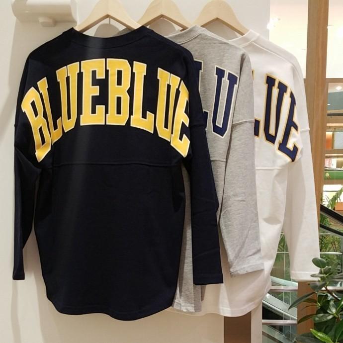 RUSSELL・BLUE BLUE☆ビッグロゴフットボールTシャツ