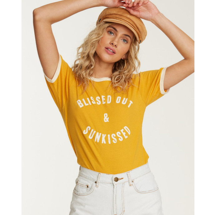【SALE】BILLABONG レディース TURN AROUND リンガーTシャツ