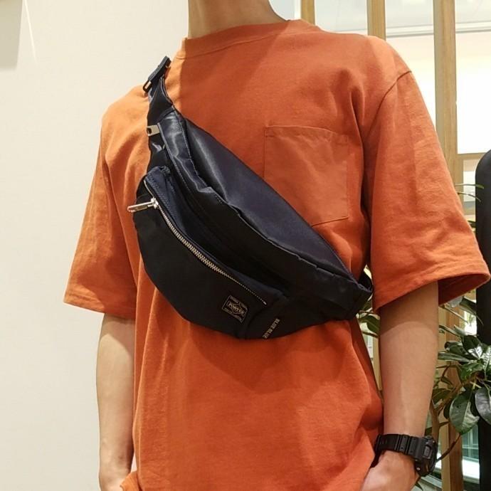 PORTER・BLUE BLUE☆インディゴナイロンコンビ ウエストバッグ