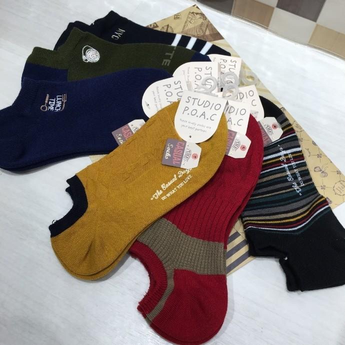 秋物新作 ロゴ刺繍スニーカーソックス