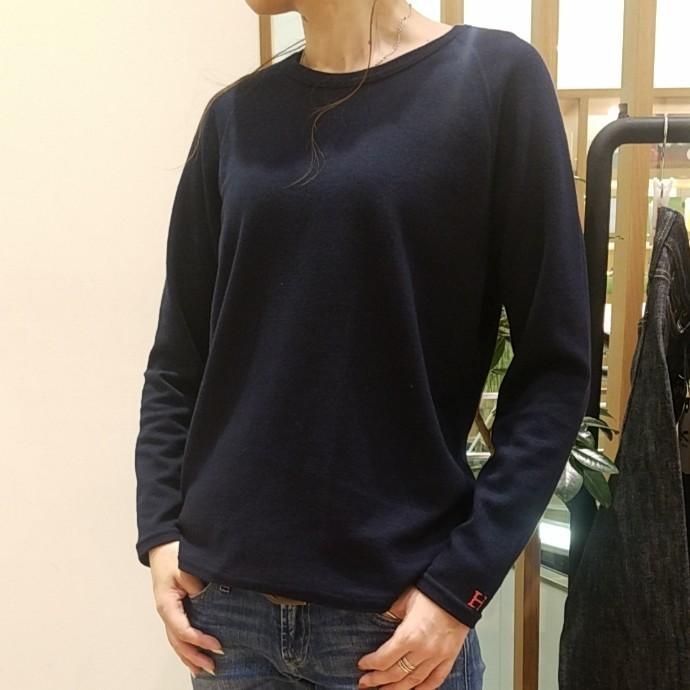 HRM☆ストレッチフライスCNリラックスフィットLS Tシャツ ウイメンズ