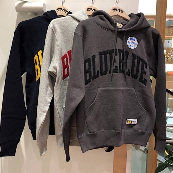 RUSSELL BLUEBLUE☆SWEAT TACKLE PULL PARKA