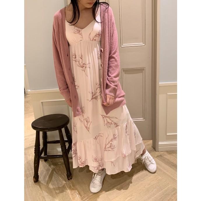 大人カワイイ♥ミドルフラワーロングドレス