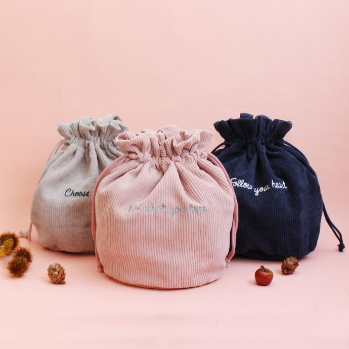 ♡NEW♡コ―デュロイ巾着BAG