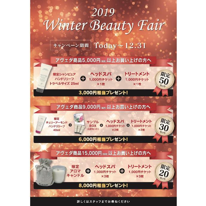 Winter Beauty Fair 2019 【ヘアアイテム Ver.】