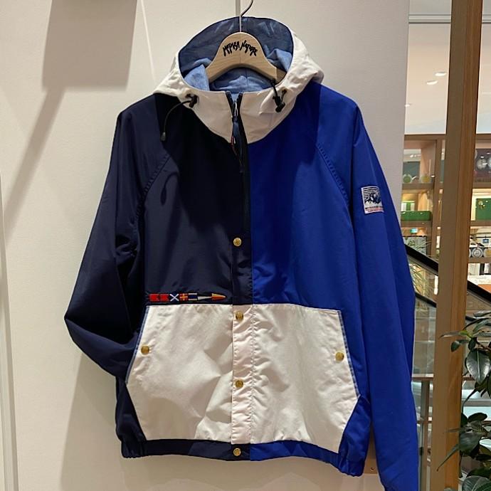 MRD・BLUE BLUE フラッグリバーシブルパーカ
