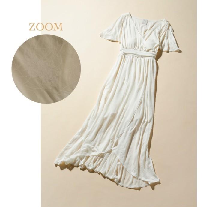 【ミュシャと四つの花】カーネーションジャガードドレス
