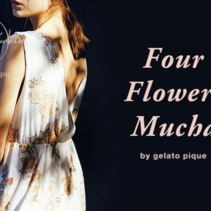 Four flowers Mucha by gelato pique