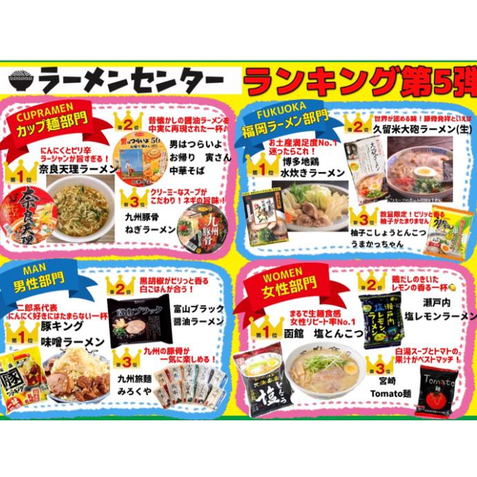 当店人気ラーメンランキング第5弾!!