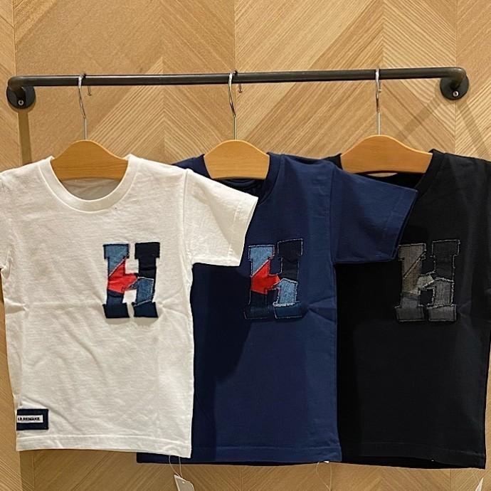 HRR☆Hロゴ スモールHパッチ ショートスリーブTシャツ キッズ