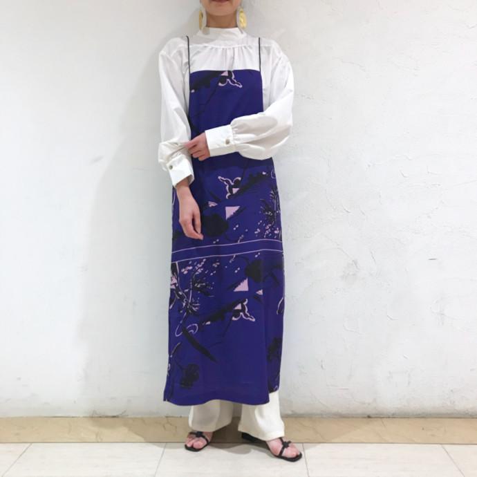 スカーフプリントキャミドレス