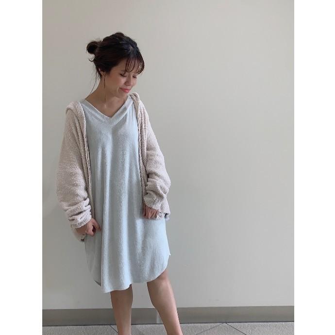 【人気】ふわふわ感触のパイルドレス