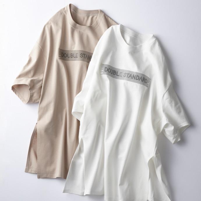 バックシルエットTシャツ