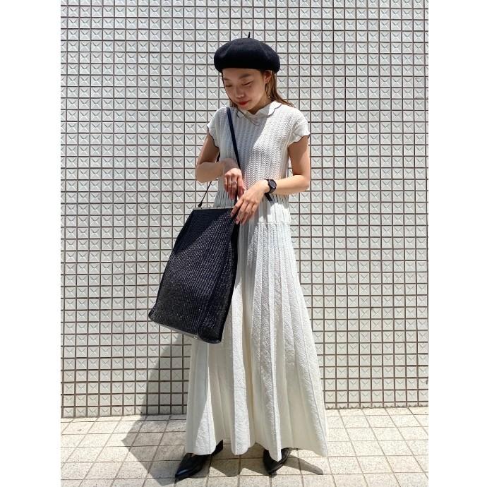 新作【サマーベレー帽,レザートリムバッグ】