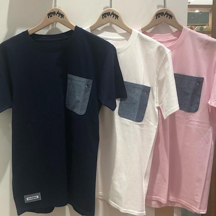 HRR☆カラフル H エンブロイダリーポケット Tシャツ