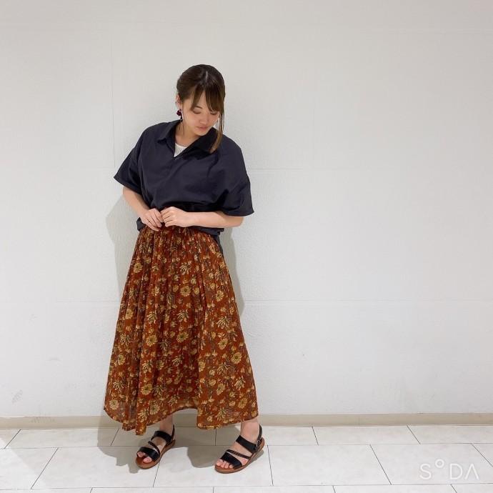 花柄ギャザースカートのご紹介❁