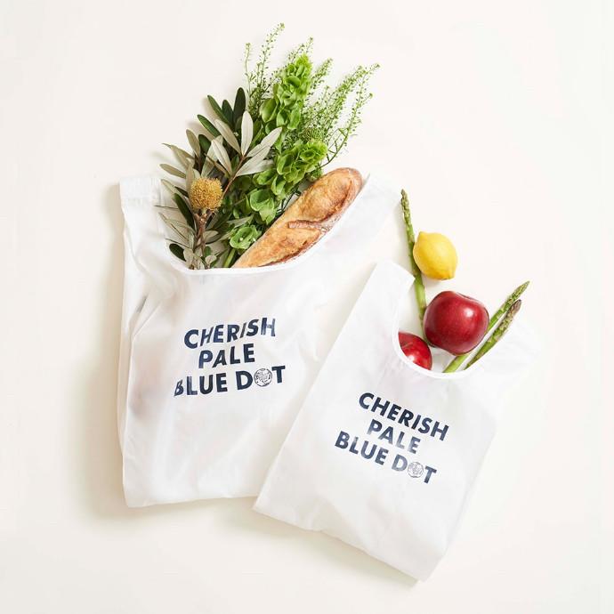 青い地球を今日も恋して。〜新プロジェクト「CHERISH PALE BLUE DOT」 ペットリサイクル素材を採用したエコバッグを発売!