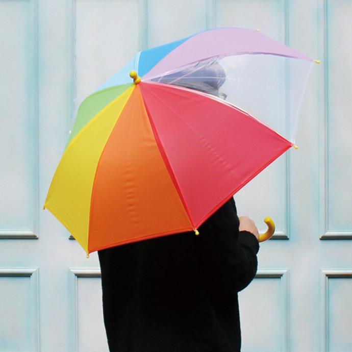 キッズレインボー傘