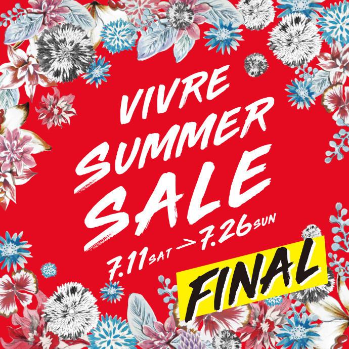 VIVRE FINAL SUMMER  SALE