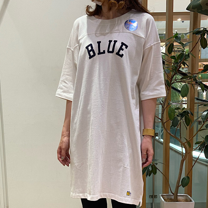 RUSSELL・BLUE BLUE☆BLUE フロッキーフットボールワンピース