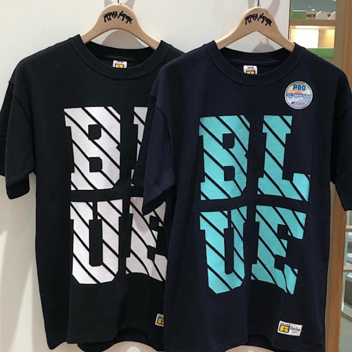 RUSSELL・BLUEBLUE☆ラインロゴショートスリーブTシャツ