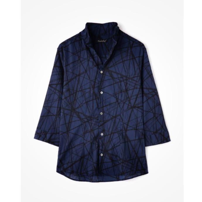 スクランブルラインプリントシャツ