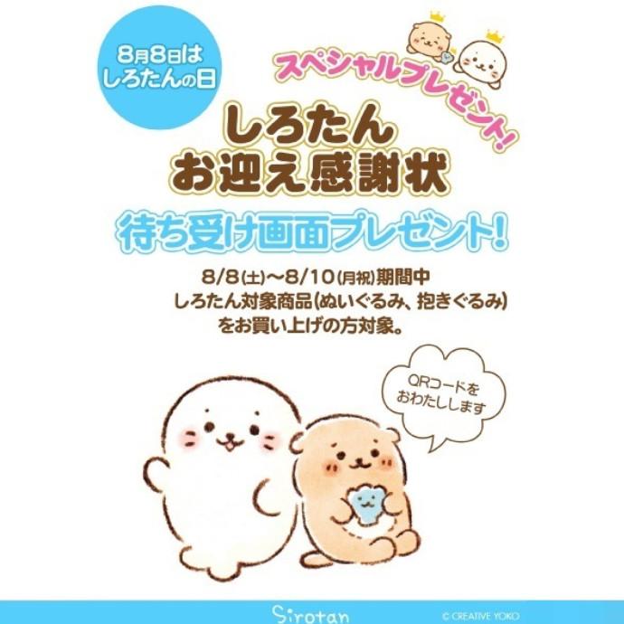 *8/8(土)はしろたんのお誕生日!*