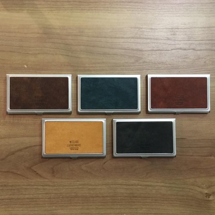 イタリアンレザー プエブロ アルミ製ハードカードケース