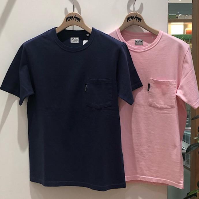 BLUEBLUE☆ヘビーコットンテンジクポケットTシャツ