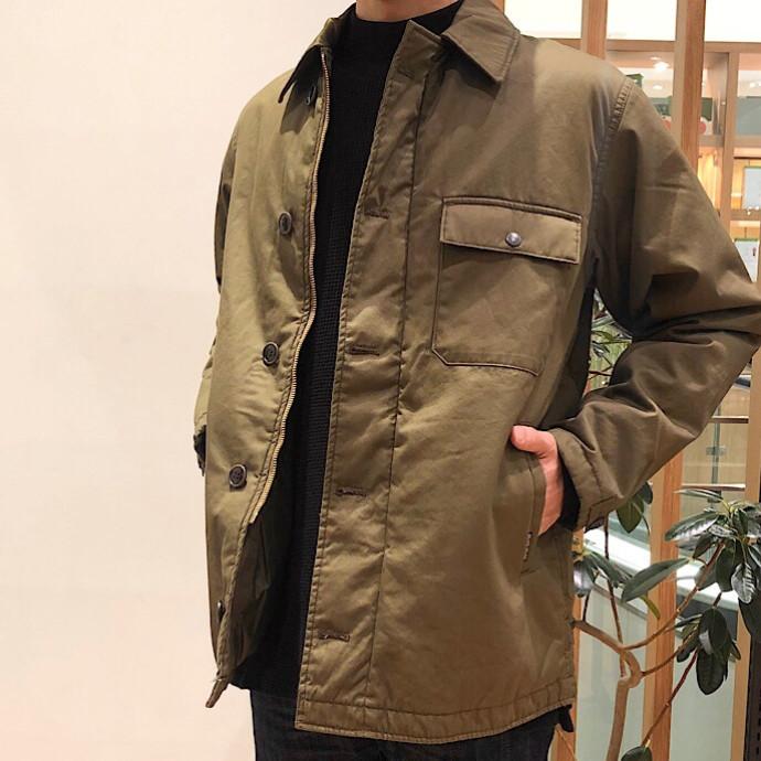 BLUE BLUE☆プリマロフト A-2デッキジャケット