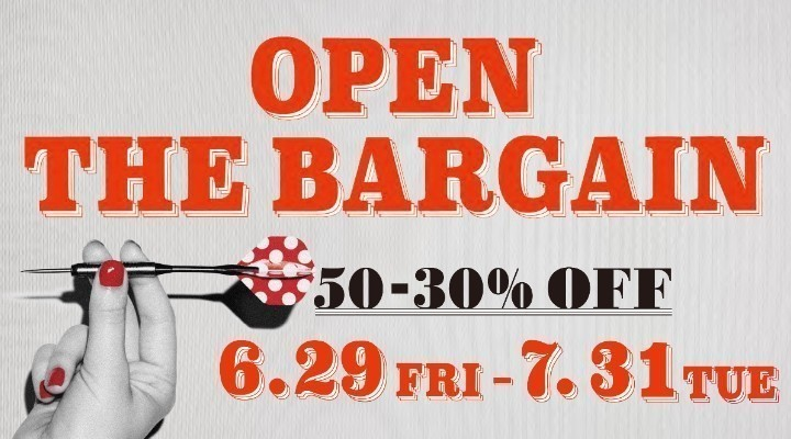 OPEN THE BARGAIN