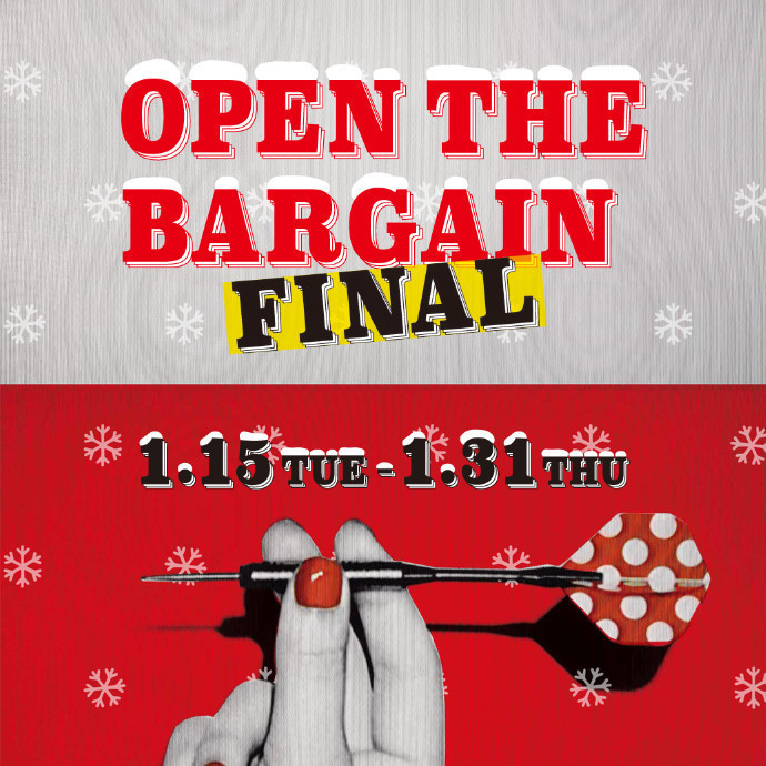OPEN THE BARGAIN FINAL